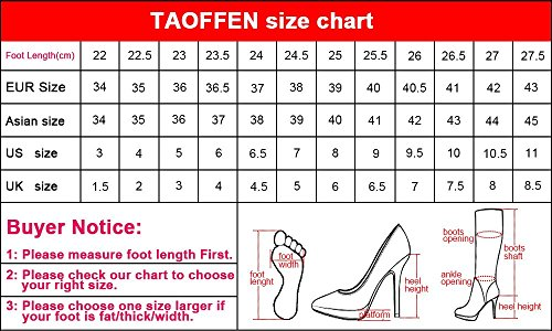 Women Classic TAOFFEN Pumps Black Shoes High Heel 6znnTPx