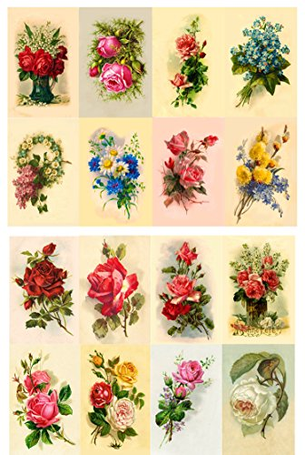 decoupage-paper-pack-10sheets-a4-8x12-flowers-roses-garden-wildflowers-flonz-vintage-paper