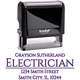 Purple Ink, Custom Self Inking Return Address Stamp Personalized – Unique Gift for Business, Real Estate Clients, Teachers and Family, Newlyweds or for Wedding Invitations