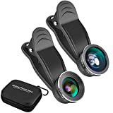 Todram Clip-on 3 in 1 Fisheye Camera Lens, 0.45X Wide Angle Lens + 15X Macro Lens + 198 Degree Fisheye Lens Professional HD iPhone Camera Lens Kit for iPhone 8, iPhone 7, 6s, 6, 5s, Android and more