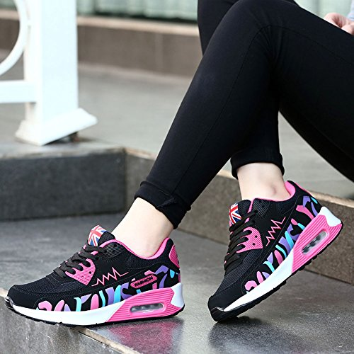Sneakers Women Athletic Competition Shoes Ladies Jogging Fitness Rose Trainers 01 Absorbing Sport Air Shock Running Multi red Casual Casual Wealsex gRaqwdw