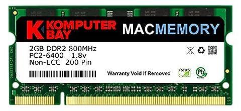 Komputerbay MACMEMORY Apple 2GB (single 2GB stick) PC2-6300 800MHz DDR2 SODIMM iMac and Macbook Memory