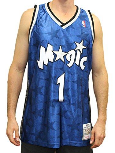 (Mitchell & Ness Tracy McGrady Orlando Magic Authentic 2000 Blue NBA Jersey)