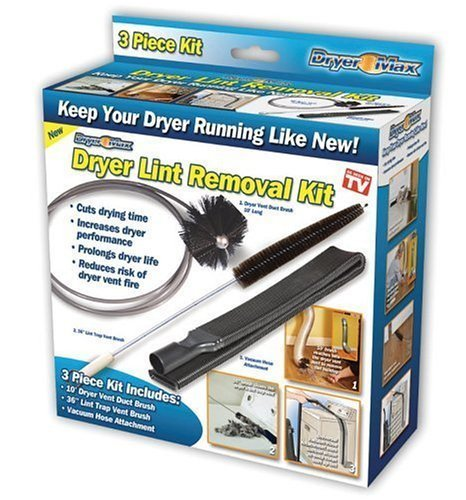 Seen Tv Dryer Lint Removal Kit (Ontel Products DRMH-MC6 Dry Max Dryer Lint Removal Kit)