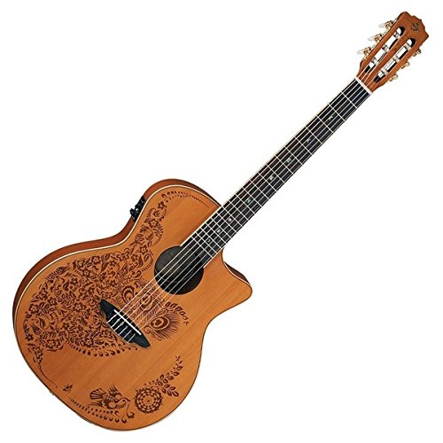 Luna Guitars Henna Oasis - Luna Guitars Henna Oasis Spruce Series II Nylon String Acoustic-Electric Guitar