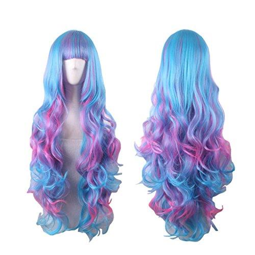 Longlove Ladies wig wig Halloween makeup ball play game wig ... (YYCurly (Halloween Stores In Baton Rouge)