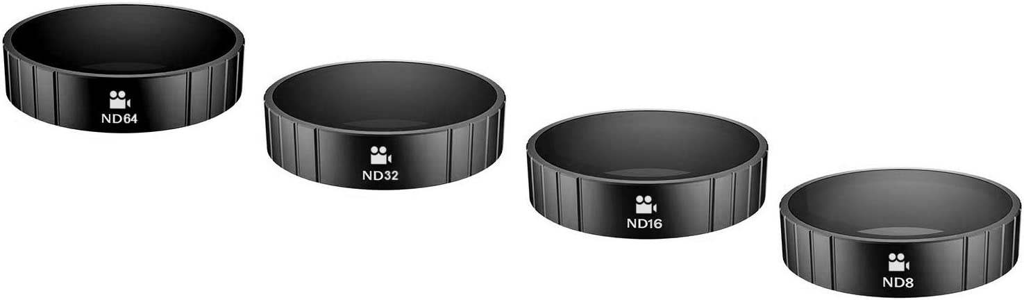 ND16 ND64 DCinelike ND Filters 4 Pack for DJI Osmo Action ND8 ND32