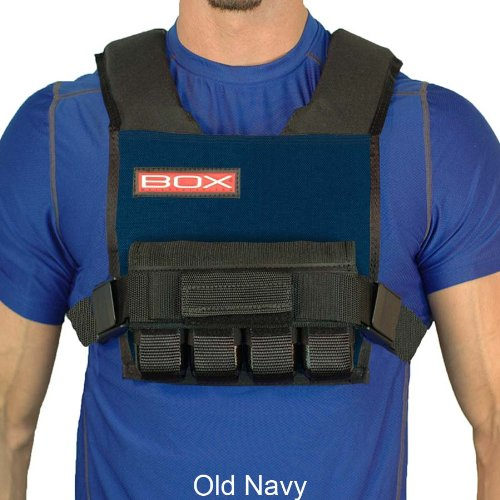 20 Lb. BOX Super Short -Weight Vest (Navy)