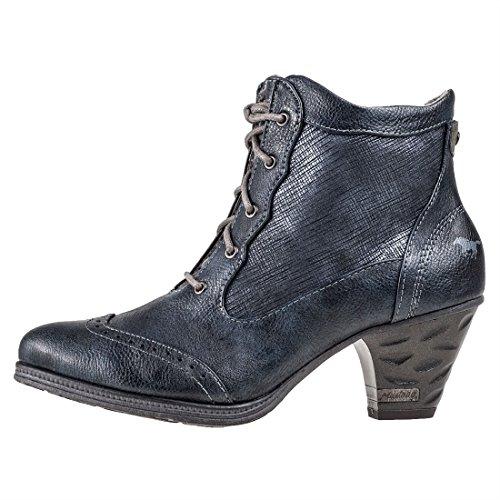 Mustang 1255-501 Scarpe Da Donna Alla Caviglia Con Lacci Stivali Stivaletti Blu