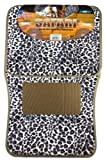 covering dash mats - BDK Universal Fit 4-Piece Safari Animal Print Carpeted Mat - (Cheetah)
