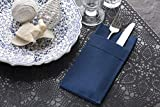 Navy Dinner Napkins Cloth Like with Built-in