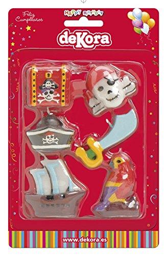 dekora 345196 Vela de Cumpleaños Piratas Contiene 6 Modelos ...