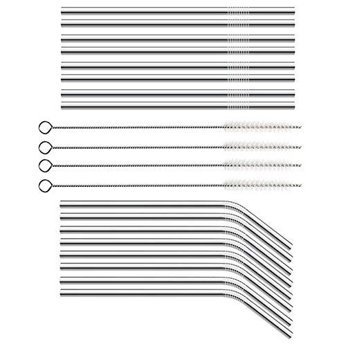 Sponge Nail Design Manicures - Reusable Straws Stainless Steel Straw 20 Piece Collection With Extra Long Brushes Set - Tableware Disposable Party Disposable Party Tableware Dots Nail Brush Fla