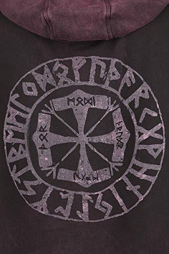 Viking Sudadera Con Amarth Capucha Symbol Rojo Vino Amon twqf5p47