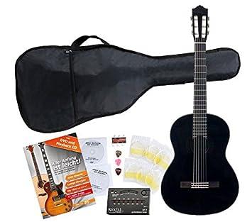 Yamaha C40 BL Guitarra clásica color negro (Incluidos funda, afinador y cuerdas): Amazon.es: Instrumentos musicales