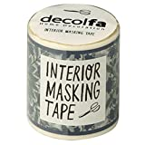 decolfa Interior Masking Tape, W50Mm Tile Pattern Green