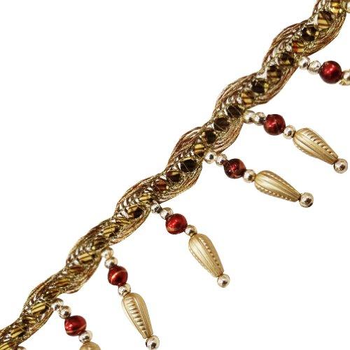 Perlen Fransen Goldenen Acryl-Perlen Gardinenband Zierband Trimmen Durch Den Hof