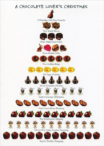 Amazon chocolate lovers christmas 12 days of christmas box chocolate lovers christmas 12 days of christmas box of 15 allport christmas cards m4hsunfo