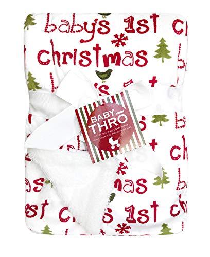 Thro Micromink Decorative Christmas Baby Throw Blanket, 30