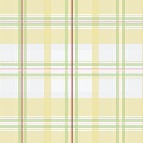 (Manhattan Comfort NWKE29911 Portsmouth Plaid Textured Wallpaper, Yellow Multi-Colored)