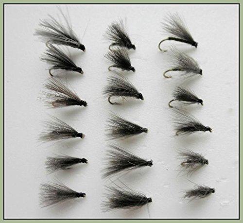 d/'olive et noir 18/mouches F CDC Mouche F choix de tailles disponibles pour p/êche /à la mouche mouches d/'oreille de li/èvres