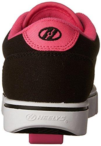 Heelys Lancering Skate Sko (barn / Lille Barn / Stor Kid) Sort / Neon Lyserød / Hvid zfHaii5Pe