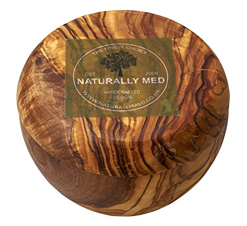 Naturally Med Olive Wood Sugar Pot/Salt - Olive Keeper Salt Wood