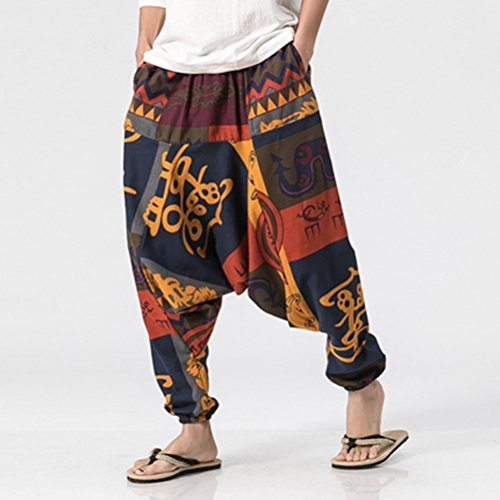 Rouge Womens Baggy For Pants Aladin De Fit Harem Hippie Trousers Loose Yoga Sarouel Hommes Et Zhhlinyuan Mens Printed Pantalon Pour Femmes Rqw1R6