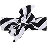 Fashion Wave Pattern Baby Infant Toddler Kids Headband Hair Wrap Photography Prop Hair Bows Elastic for Girls(#5)