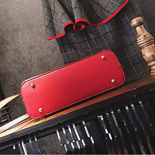 Röd urholkad damskal av hög kvalitet blommor handväskor bröllopsfest messengerväskor lyx klassiska tygväskor