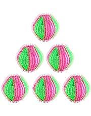 Tvättkula, 6 stycken tvättbollar fotbollskulor tvättboll för tvättmaskin återanvändbara mot ludd och ludd, nylon ABS 3,5 cm