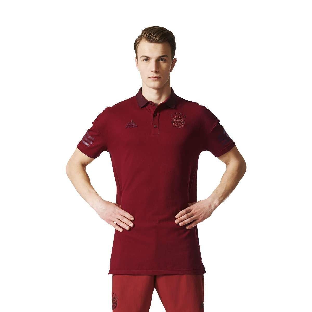 2017-2018 Bayern Munich Adidas BST Lifestyle Polo Shirt (Maroon) B072FKWD9VMaroon Large 42-44\