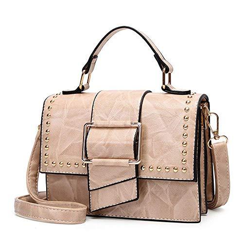 Bolso Con De Summer Rojo Remaches Hombro Messenger Tamaño color Eeayyygch Mobile Bag Negro Beige gtdqwx1X5X