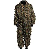 Upgrade Ghillie Suit Set, 3D Lifelike Super Lightweight Camouflage Clothing Outdoor Jungle Woodl