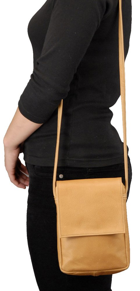 Sven Design North South Leather Handbag Chocolate by SVEN DESIGNS (Image #2)