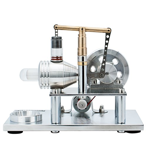 DjuiinoStar Super Stable Hot Air Stirling Engine(Solid Metal Construction), Electricity Generator(Light up LED), Ready to Run by DjuiinoStar (Image #5)