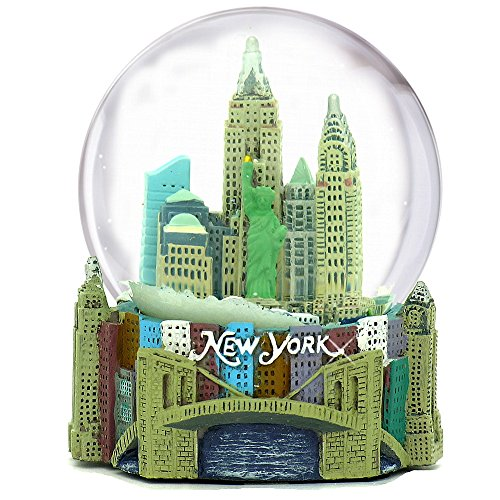 Musical New York City Snow Globe, 100mm New York City Snow Globes, 5.5 Inches Tall, PLAYS NEW YORK, NEW ()