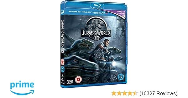 Amazon.com: Jurassic World [Blu-ray 3D + Blu-ray] [2015]: Chris Pratt, Bryce Dallas Howard, Irrfan Khan, Vincent DOnofrio, Ty Simpkins, Nick Robinson, ...
