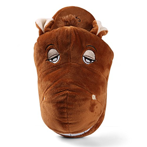 Aerusi Kid Adult Comfort Plush Cute Animal Slipper De Invierno Dormitorio Zapatos De Casa Interior Caballo