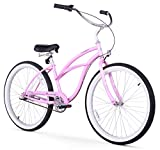Firmstrong Urban Lady Three Speed Beach Cruiser Bicycle, 24-Inch, Pink