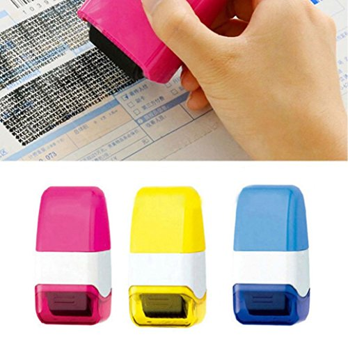 GBSELL 1Pcs Guard Your ID Roller Stamp SelfInking Stamp M...