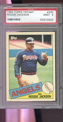 Reggie Jackson PSA GRADED 9 (Baseball Card) 1985 Topps - [Base] #200