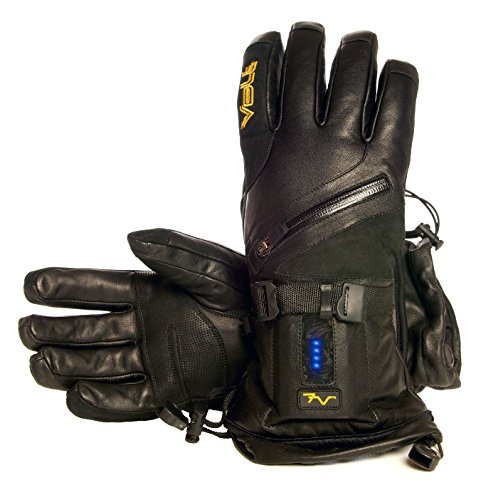 Volt Heat Leather 7V Titan Leather Cold Weather Gloves  Black  Xl