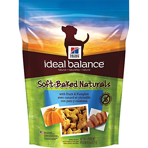 - Hill'S Ideal Balance Grain Free Dog Treats, Soft-Baked Naturals With Duck & Pumpkin Soft Dog Treats, Healthy Dog Treats, 8 Oz Bag