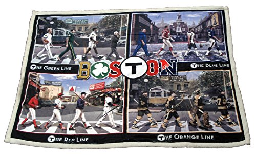 I Love Boston Sports T Pass Throw Blanket