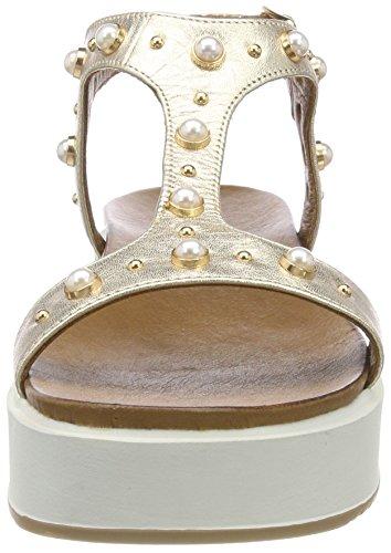 de Dorado Tira T Sandalias 16779590 con 8737 para Mujer Gold Inuovo q4wIf1