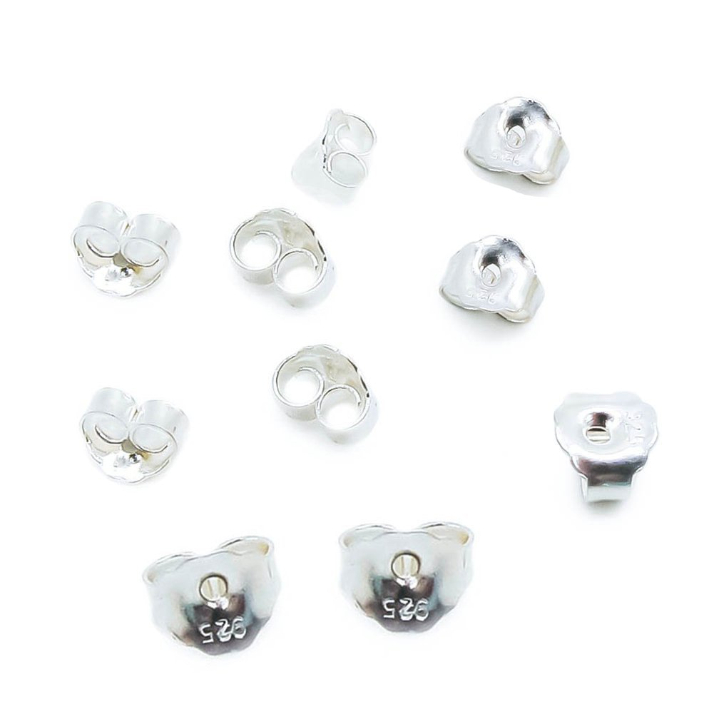 Outee Earring Back Kit Earring Safety Backs 10 Styles Rubber Plastic Metal for