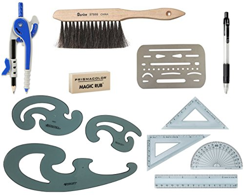 12-Piece Architecture Drafting Tool Set – The Perfect Drafting Kit for Beginners or Students (Architectural Unknown)