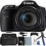 Canon PowerShot SX540 HS Digital Camera - International Version (No Warranty) 32GB Bundle 14PC Accessory Kit Which Includes Replacement NB-6L Battery, 5 Piece Camera Cleaning Kit, MORE