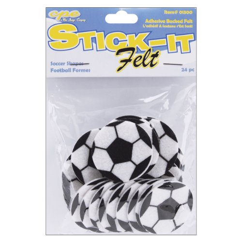 Stick It Felt Shapes, Soccer Balls 24/Pkg
